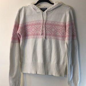 NWOT winter pattern pastel knit hoody